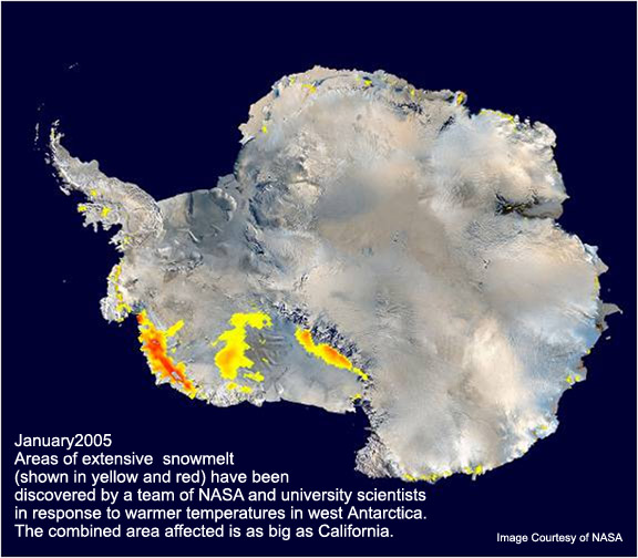 Map of  Antacrctic Warming