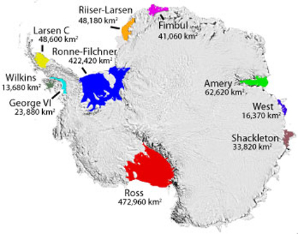 Antarctic Ice Shelves