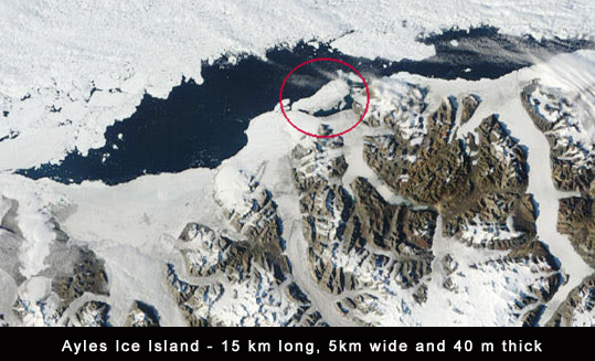 Ayels Ice Shelf Island Canada