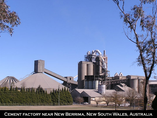Cement factory New South Wales, Australia