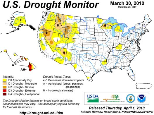 USA Drought July 2009