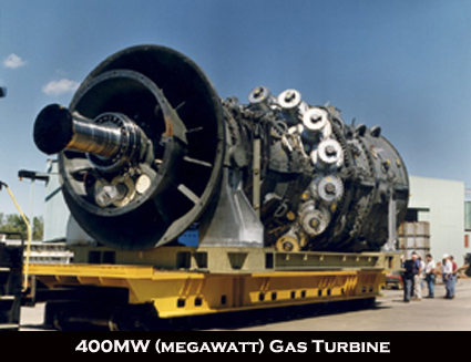 General Electric 400MW gas turbine