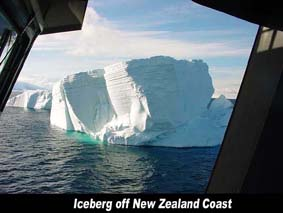 new zealand NZ Iceberg