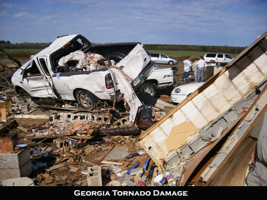 March 2007 Tornado damage Georgia