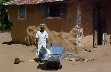 Solar Stove in village