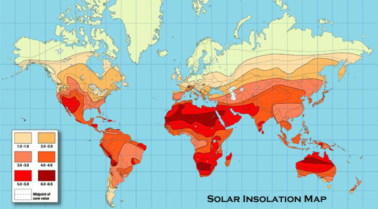 Solar Insolation Map