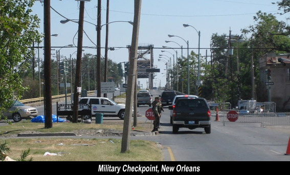 Soldier Checkpoint New Orleans