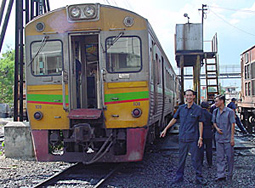 Thai train on biofuel