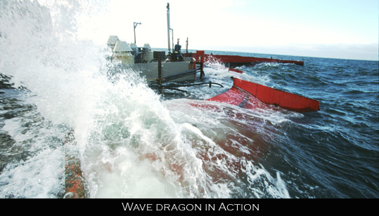 Wave Dragon generates electricity
