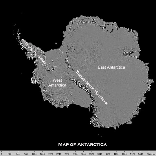 West Antarctic Ice Shelf map