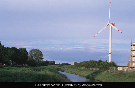 largest wind turbine 5MW
