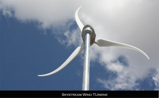 Skystream wind turbine