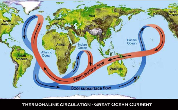 Thermohaline ocean currents