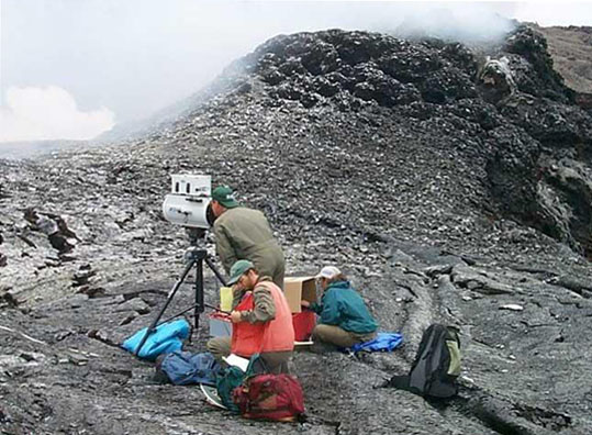 Analysing a volcanoes eruption